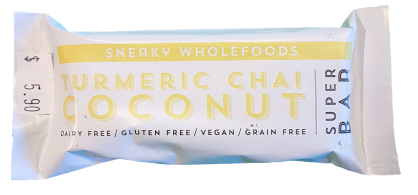 Sneaky Wholefoods Turmeric Chai Coconut Bar 60g Snacks & Trail Mixes