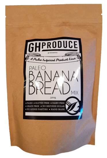GH Produce Paleo Banana Bread Mix 320g Make at Home Mixes
