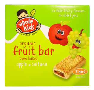 Whole Kids Apple & Sultana Bars Baby Toddler and Kids