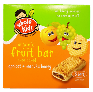 Whole Kids Apricot & Honey Bar (Pack Of 5) Baby Toddler and Kids