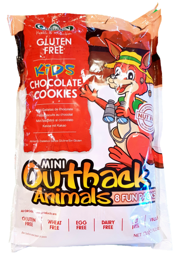 Orgran Mini Outback Animals Multipack Chocolate 6 x 22