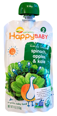 Happy Baby Organic Spinach Apple and Kale 113g