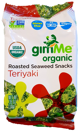 Gimme Roasted Seaweed Snacks Teriyaki 10g Snacks & Trail Mixes