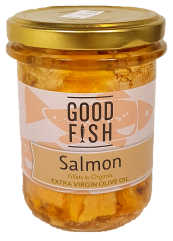 Good Fish Salmon in Olive Oil- Jar Canned Products
