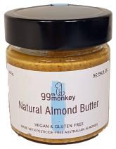 99th Monkey Natural Almond Butter 200g Spreads Honey and Tahini