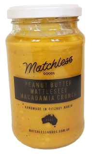 Matchless Goods Peanut Butter Wattle seed Macadamia Crunch Spreads Honey and Tahini
