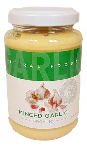 Spiral Foods Pty Ltd Organic Minced Garlic 220G (Spiral) Preserved Vegetables