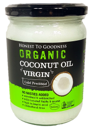 Honest to Goodness Coconut Oil Cold Pressed Virgin Organic 500ml