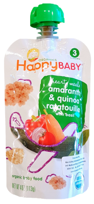 Happy Baby Organic Amaranth, Quinoa with Ratatouille 113g