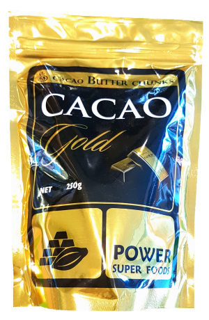 Power Superfoods Cacao Butter Gold Cacao Cocoa and Carob