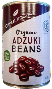 Ceres Organics Organic Adzuki Beans Tin 400g Canned Products