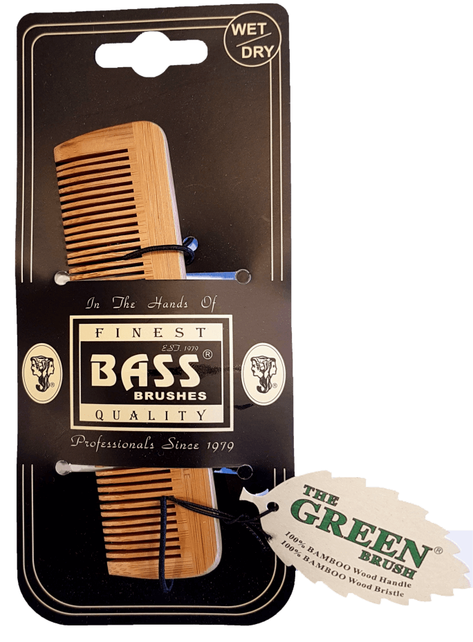Bass Brushes Bamboo Wood Tortoise Comb Pocket Size - Fine Tooth Health & Beauty Accessories