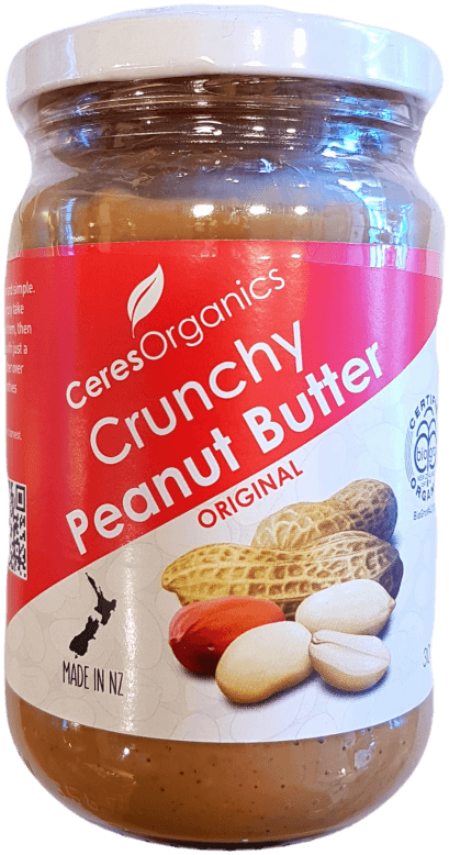Ceres Organics Organic Peanut Butter Crunchy 300g Spreads Honey and Tahini