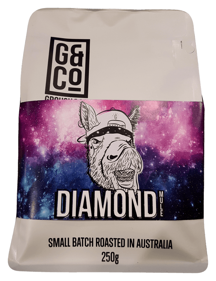 Grouch and Co Coffee Diamond 250g Teas Coffees and Blends