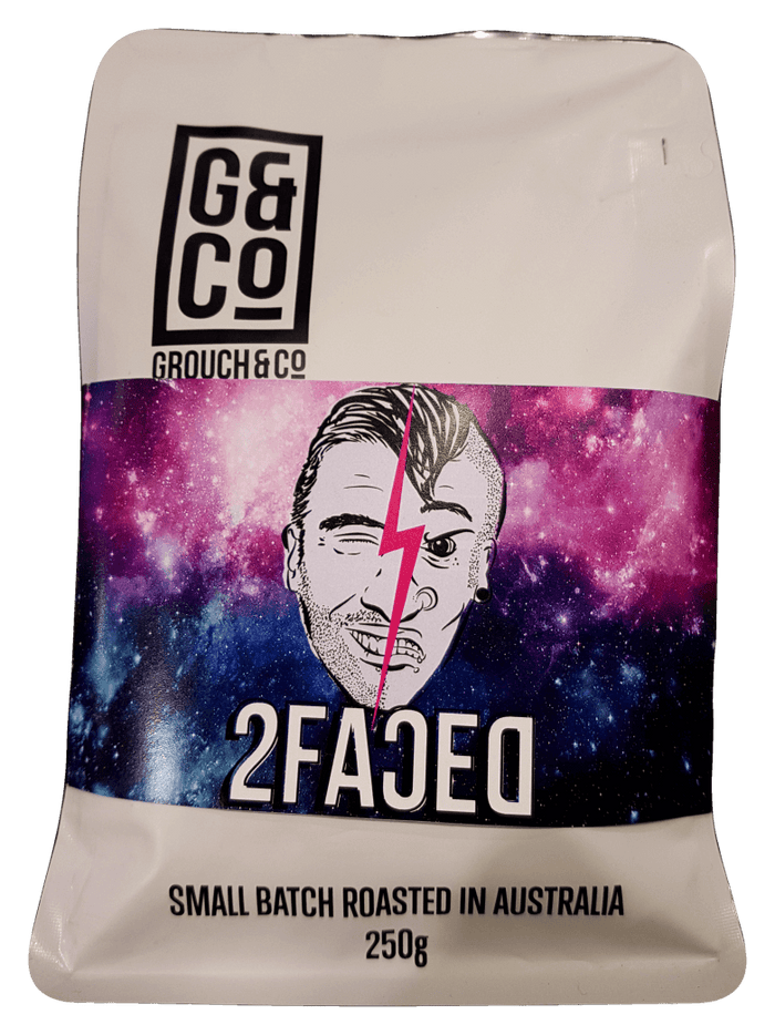 Grouch and Co Coffee 2Faced (decaf) 250g Teas Coffees and Blends