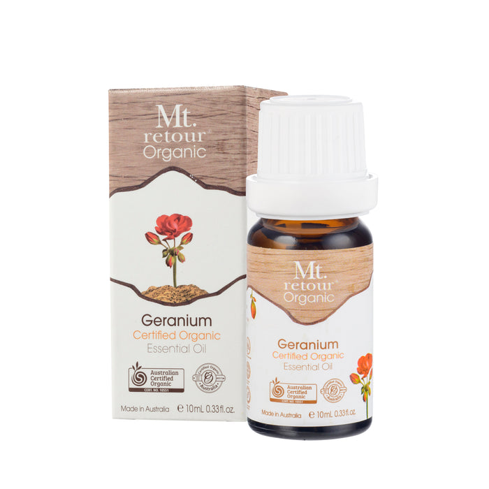 Mt Retour Geranium Essential Oil Organic 10ml Essential Oils & Candles