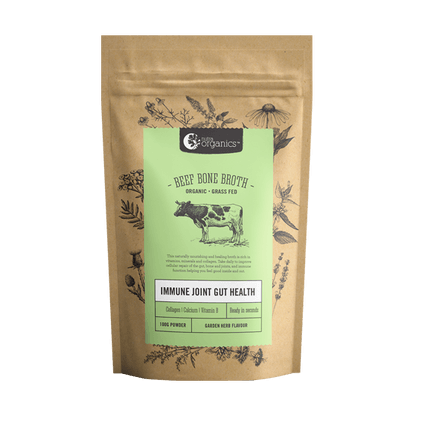 Nutra Organics Beef Bone Broth Powder Garden Herb 100g Stocks & Broths