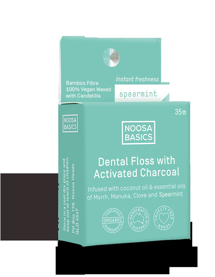 Noosa Basics Dental Floss with Activated Charcoal 35 metres Health & Beauty Accessories