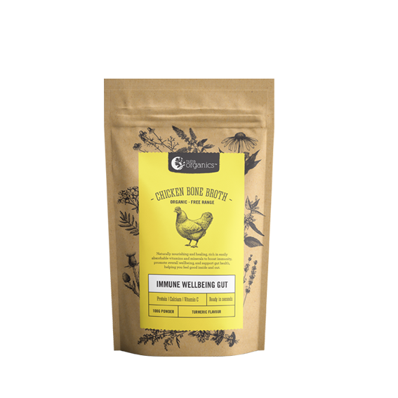 Nutra Organics Chicken Bone Broth Powder Turmeric 100g Stocks & Broths
