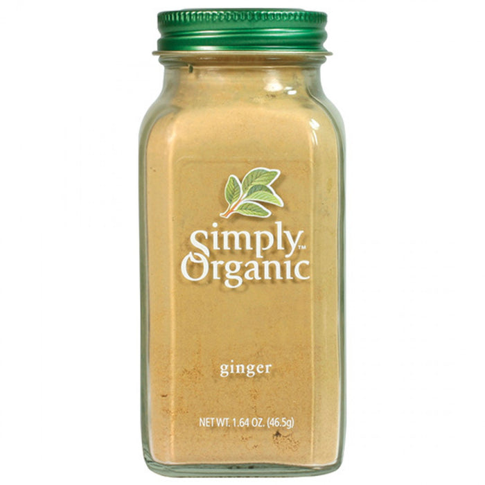 Simply Organic Ginger Ground 46g Herbs Spices and Salt
