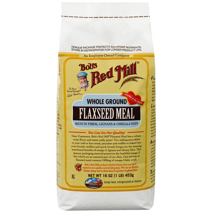 Bob's Red Mill Whole Ground Flaxseed Meal 453g Flours & Meals