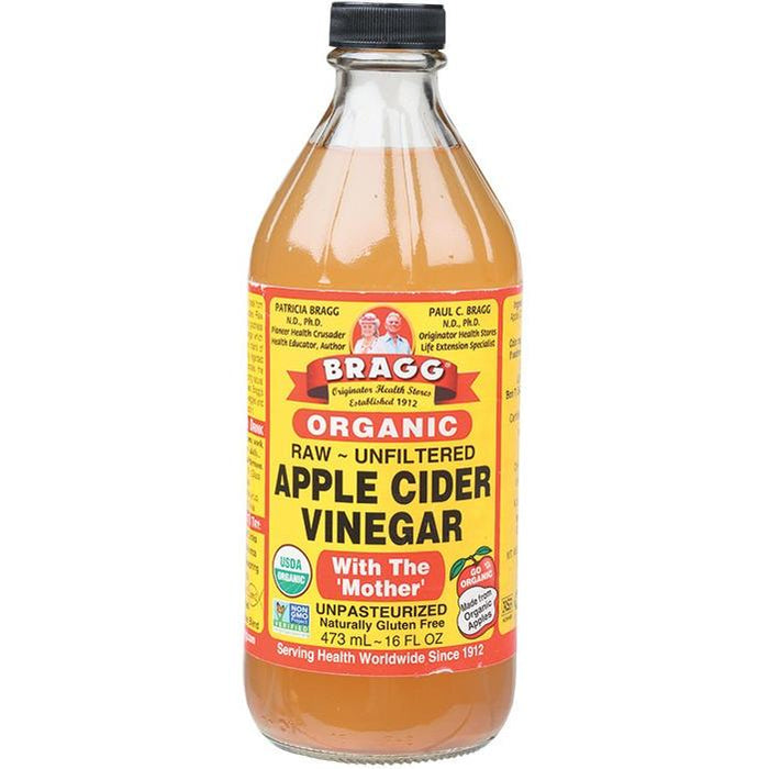 Bragg Apple Cider Vinegar Unpasteurised & Unfiltered 473ml Sauces & Condiments