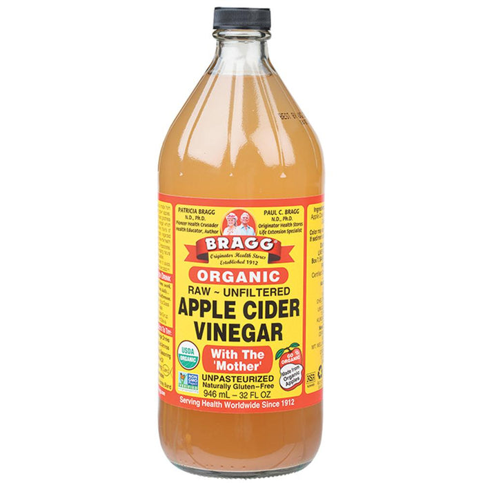 Bragg Apple Cider Vinegar Unpasteurised & Unfiltered 946ml Sauces & Condiments