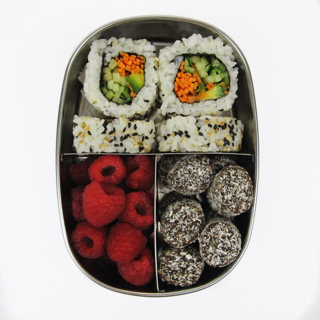 Ever Eco STAINLESS STEEL BENTO SNACK BOX 3 COMPARTMENT Zero Waste