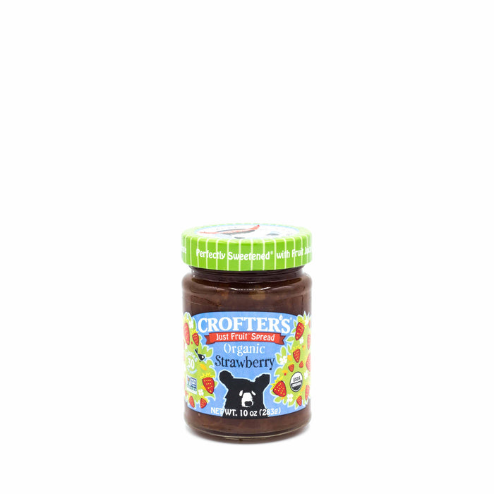CROFTER'S JUST FRUIT SPREAD ORGANIC Strawberry 283g Spreads Honey and Tahini