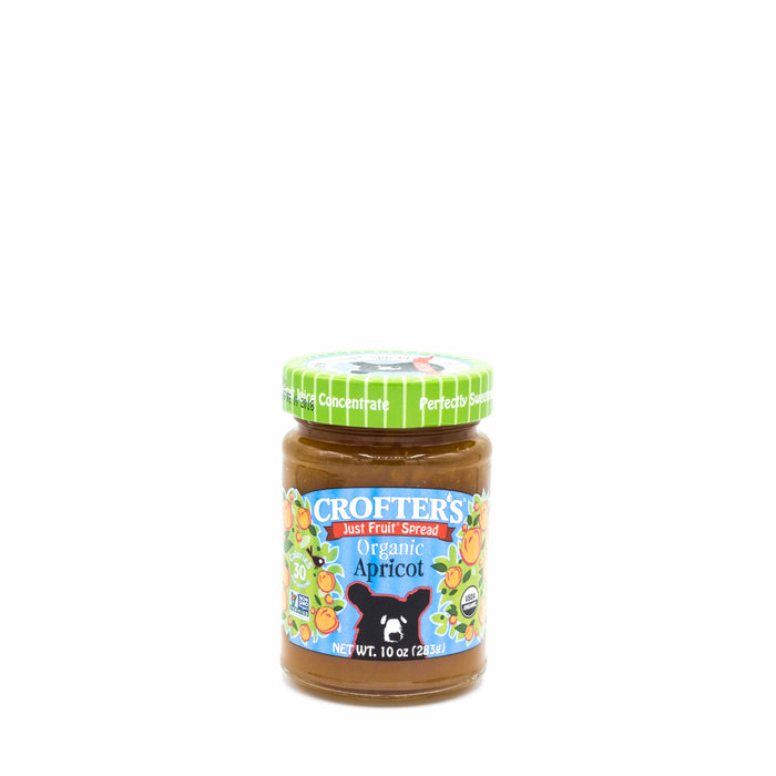 CROFTER'S JUST FRUIT SPREAD ORGANIC APRICOT 283g Spreads Honey and Tahini