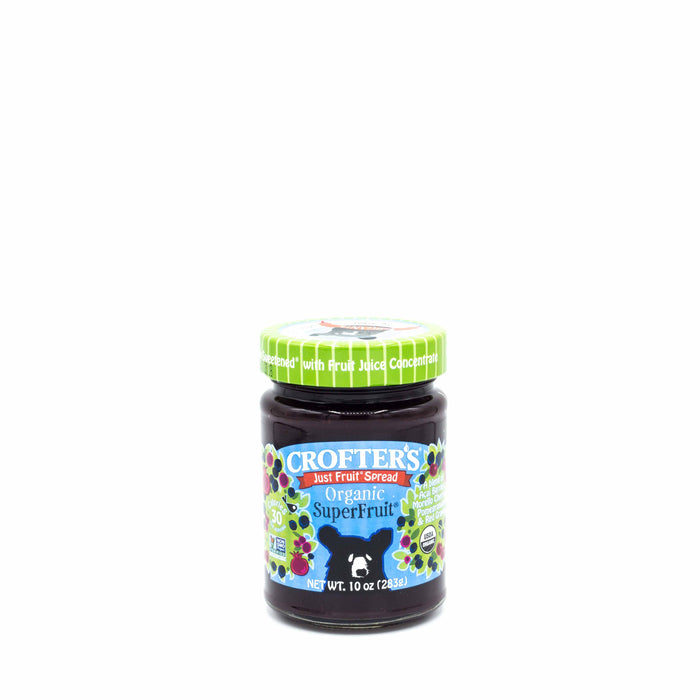 CROFTER'S JUST FRUIT SPREAD ORGANIC Superfruit 283g Spreads Honey and Tahini