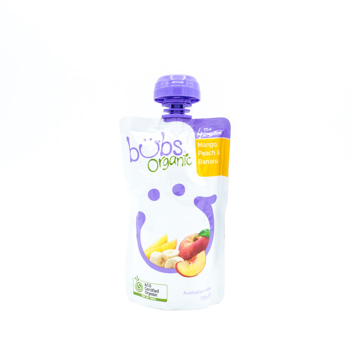 Organic Bubs Mango, Peach & Banana Pouch 120g Baby Toddler and Kids