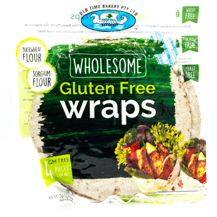 Old Time Bakery  Wholesome Gluten Free Wraps 250g Bread & Wraps
