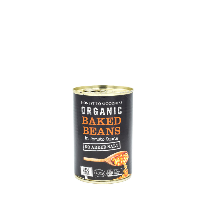 Honest to Goodness Baked Beans Organic 400g can Beans Lentils & Peas