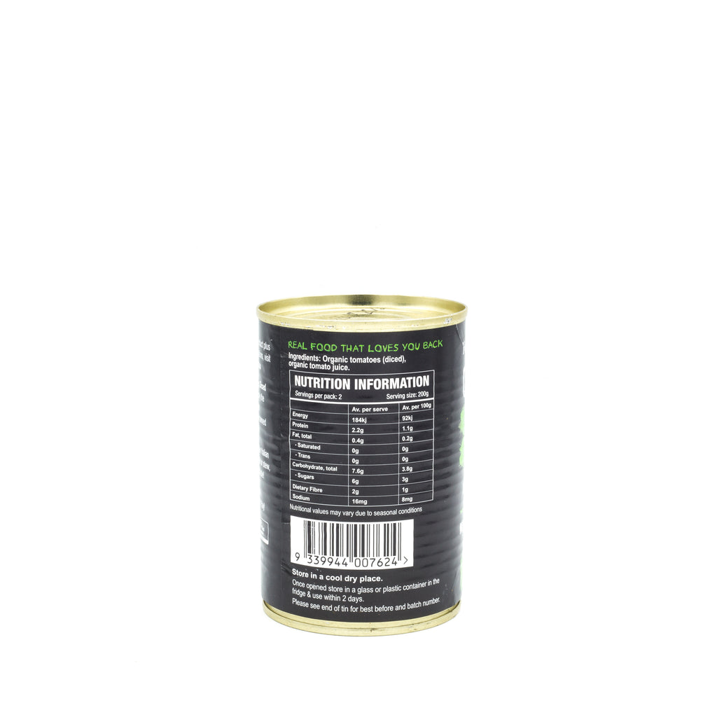 Honest to Goodness Organic Diced Tomatoes 400g can Canned Products