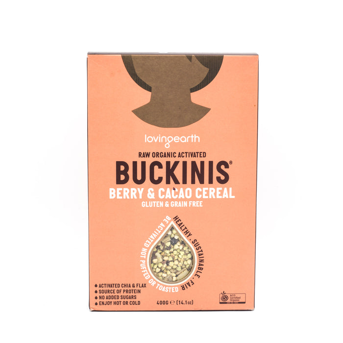 Loving Earth Buckinis Berry and Cacao Cereal Organic 400g Cereals Muesli and Granola