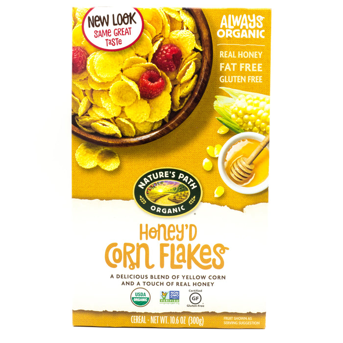Natures Path Organic Honey'D Corn Flakes 300g Cereals Muesli and Granola