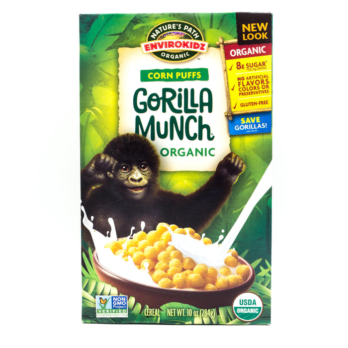 Natures Path Gorilla Munch Corn Puffs Organic 284g Cereals Muesli and Granola