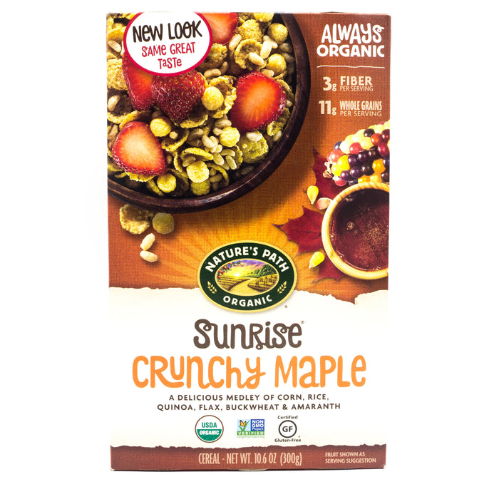 Natures Path Organic Sunrise Crunchy Maple Cereal 300g Cereals Muesli and Granola