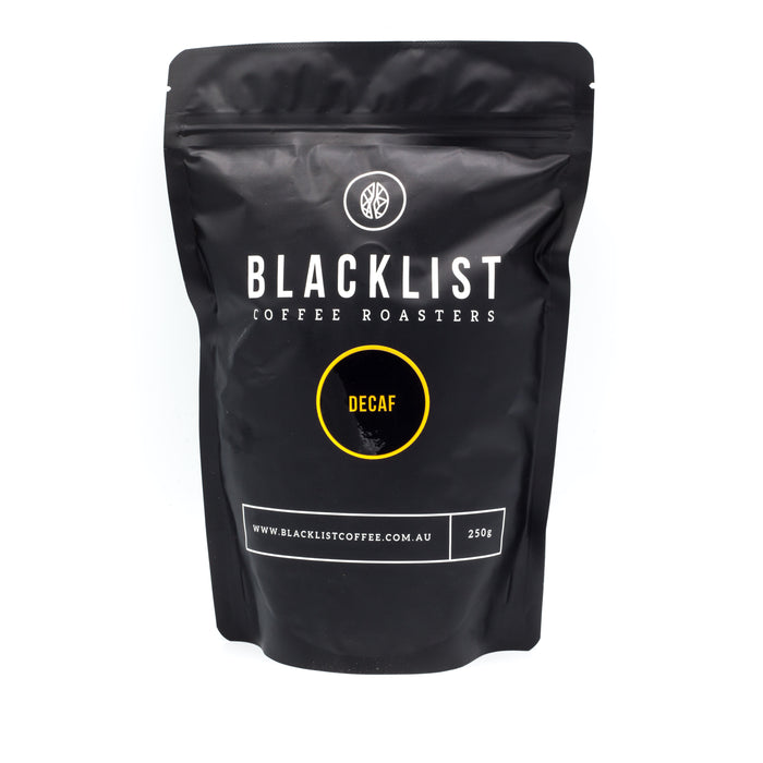 Blacklist Single Origin Decaf Coffee 250g Teas Coffees and Blends
