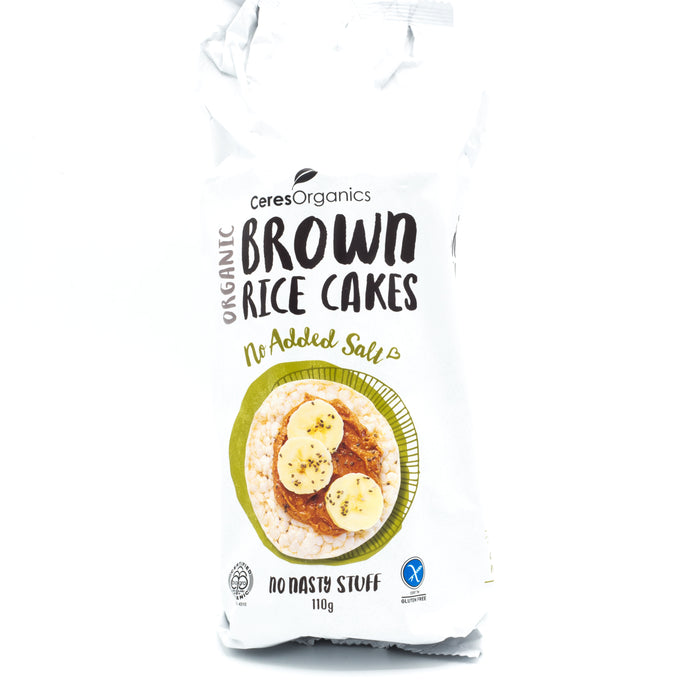 Ceres Organics Organic Brown Rice Cakes No Added Salt 110g Crackers & Crispbreads