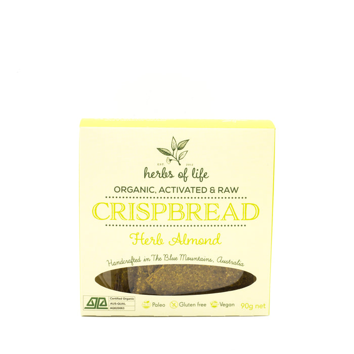 Herbs of Life Herb Almond Crackers 90g Crackers & Crispbreads