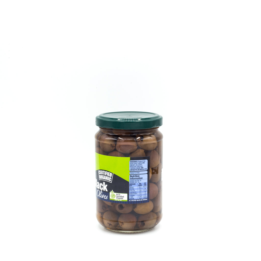 Absolute Organic Italian Pitted Black Olives 280g Preserved Vegetables