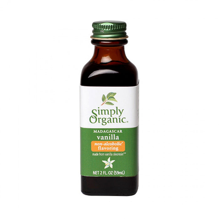 Simply Organic Non-Alcoholic Vanilla Flavour 59ml Baking & Making