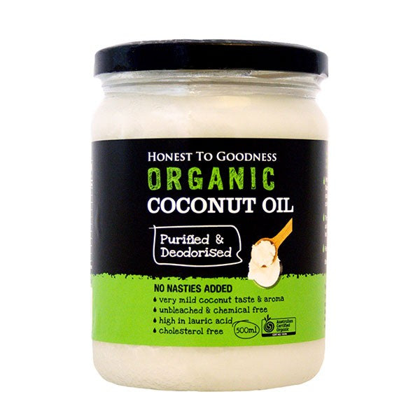 Honest to Goodness Organic Coconut Oil Purified/Deodorised 500ml Oils & Vinegars