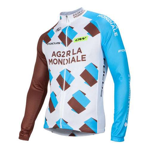 AG2R La Mondiale Long Sleeve Replica Jersey