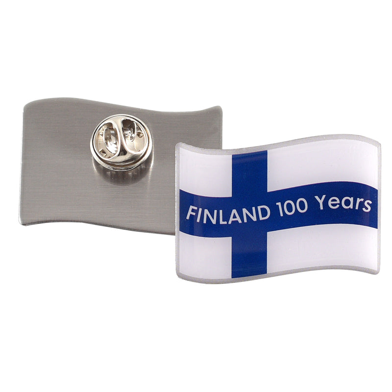 Finland 100 Flag Pin