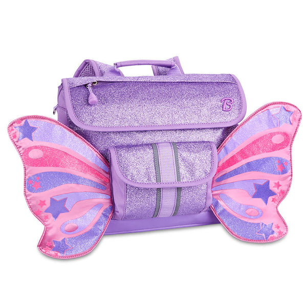 Bixbee Flyer Pack Sparkalicious Purple Butterflyer Kids Small Backpack