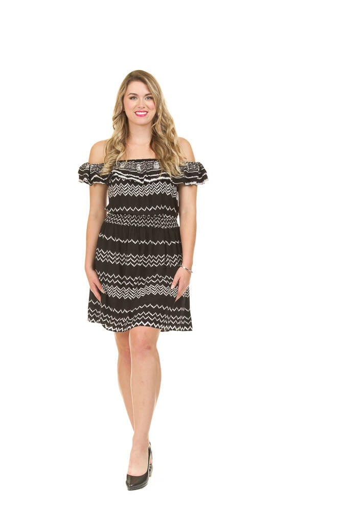 Chevron OTS Dress