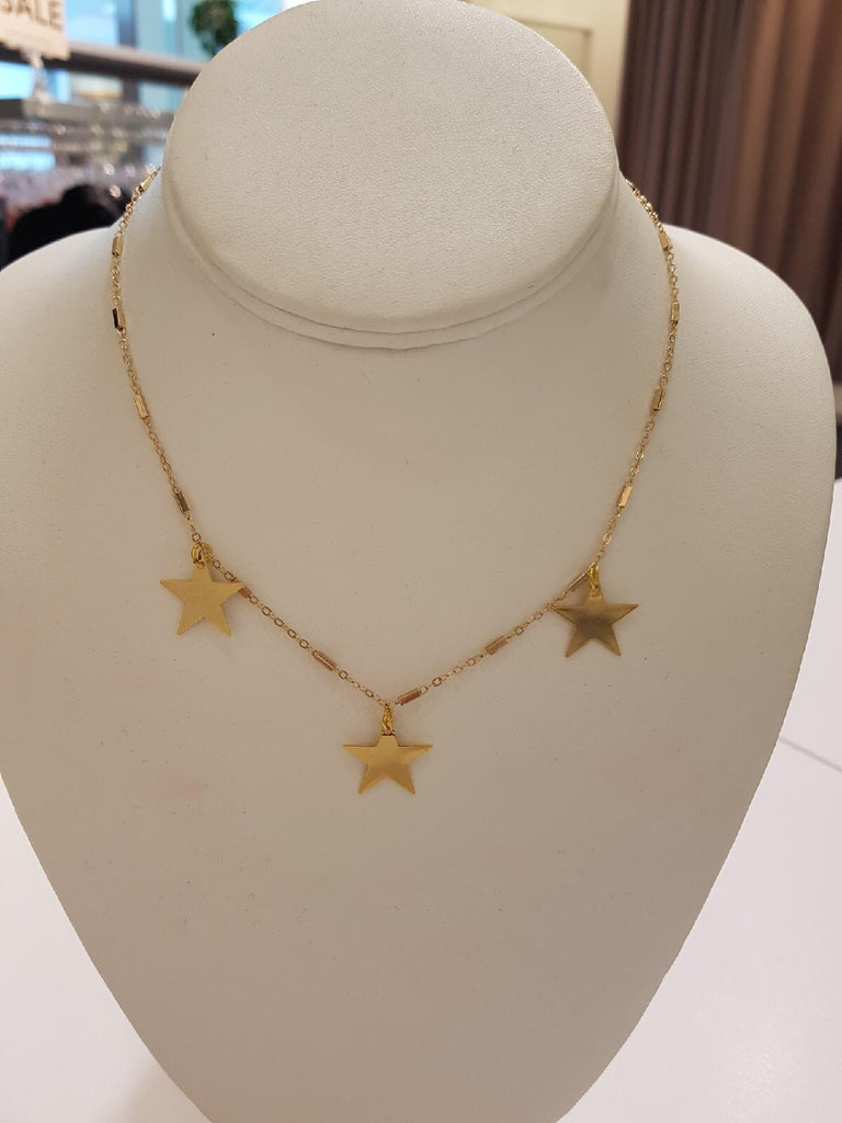 Apryl Dawn Tri Star Necklace